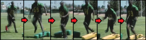 Lateral Weave Football Drill