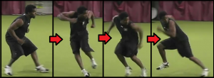 Doing the Open Technique During Football Practice