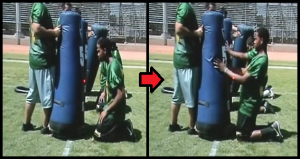 Popsicle Bag Football Drill
