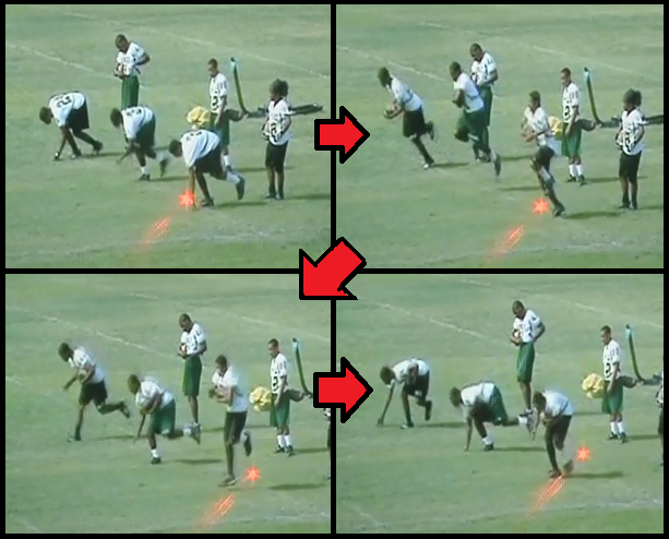 ball transfer football drill