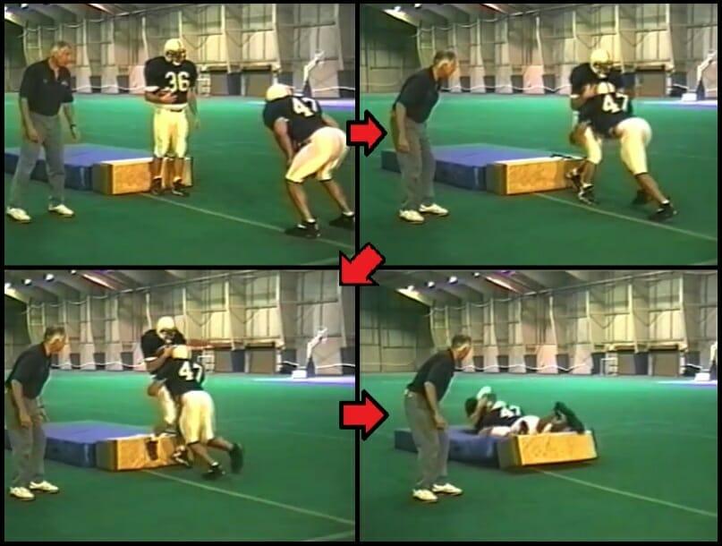 tackle linebacker drill