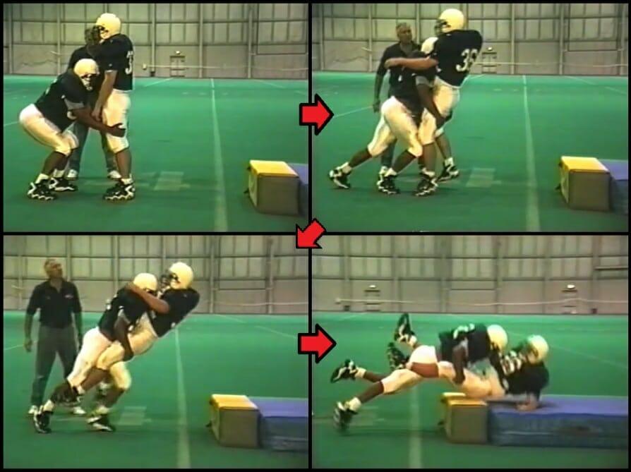 linebacker drill