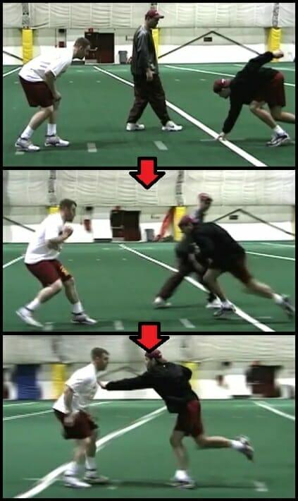 defensive line drill