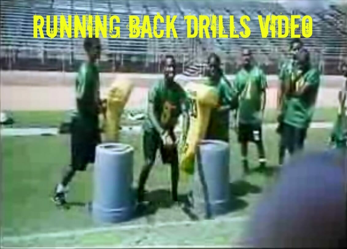 running back drill video