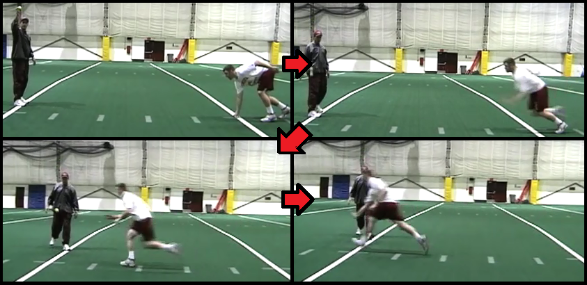 get-off defensive lineman football drill