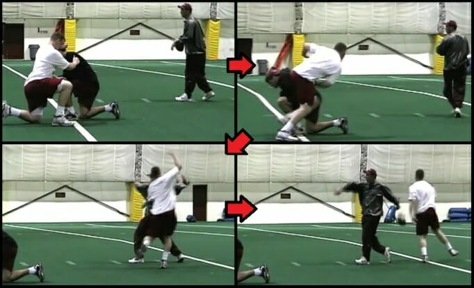 defensive line football drill