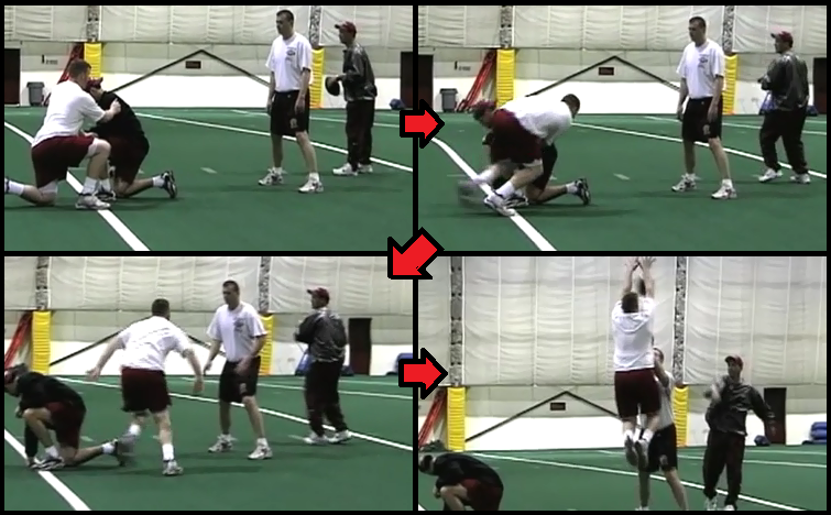 indicator defensive line football drill