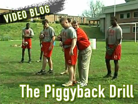 Piggyback Drill Running Back Drills