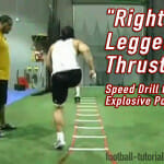 """Right Legged Thrust"" Speed Drill for Explosive Power"