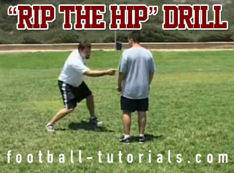 Offensive Line Drill The Rip The Hip Cut Blocking Drill