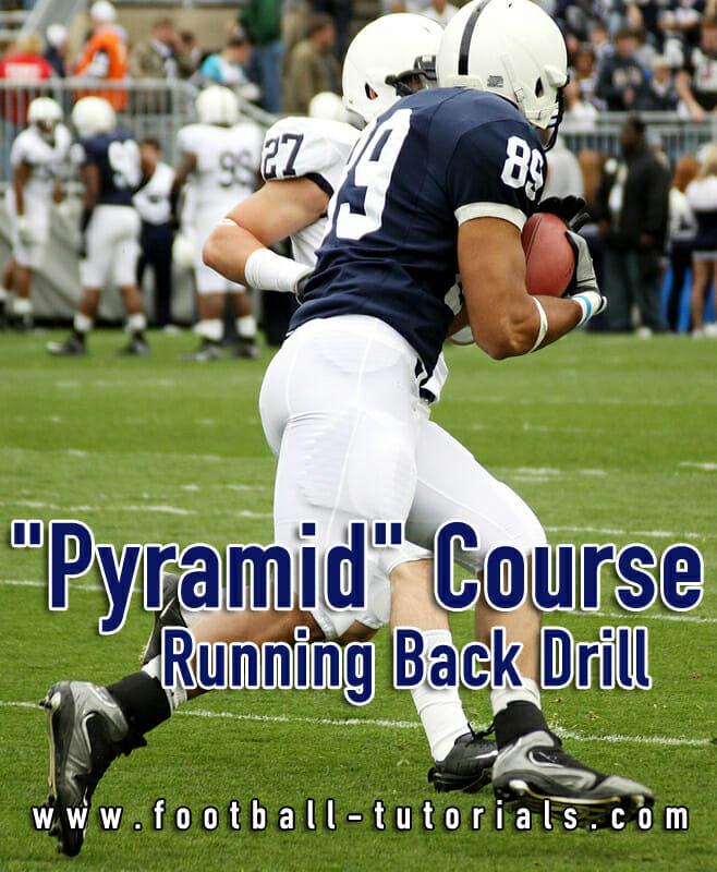 running back drill pyramid