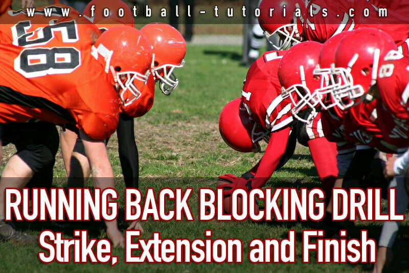running back blocking drill