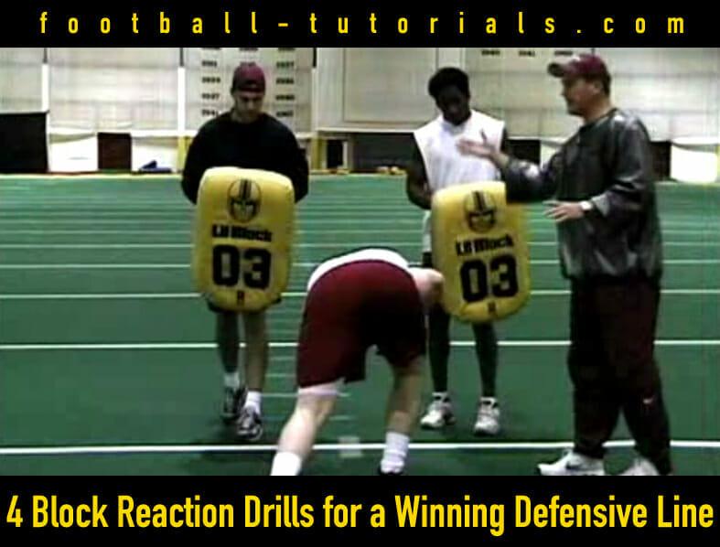 winning defensive line block drills