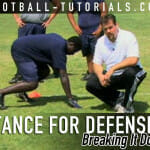defense football stance