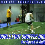 double foot shuffle agility drill