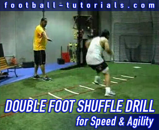 double foot shuffle agility drill