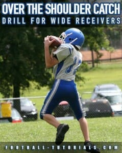 shoulder catch drill for wide receivers