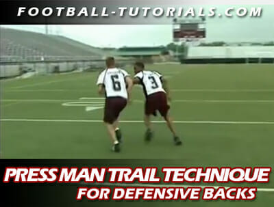 DEFENSIVE BACK PRESS MAN TRAIL 2