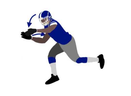 Strip The Catch Football Defense Drill