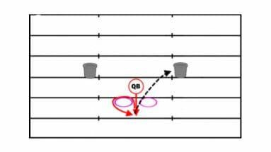 Pocket Presence Football Passing Drill
