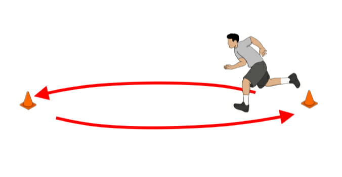 Football Cone Conditioning Drill