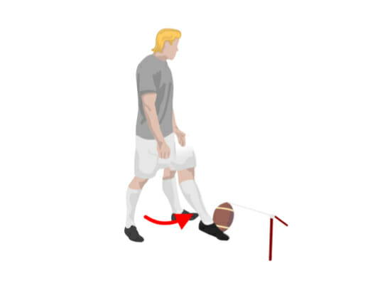 No Step Football Kicking Drill