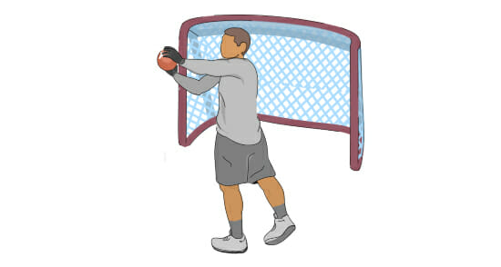 Goalie Drill for Football Receivers